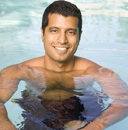 Guy swimming